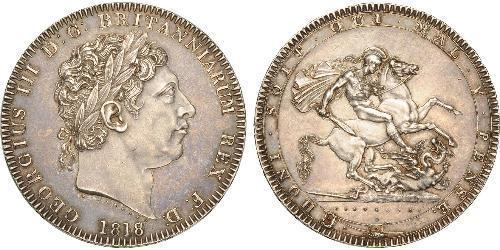1 Крона(англійська) Сполучене королівство Великобританії та Ірландії (1801-1922) Срібло Георг III (1738-1820)