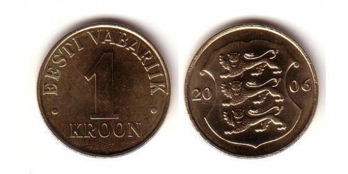 1 Крона Эстония (1991 - ) Алюминий/Бронза