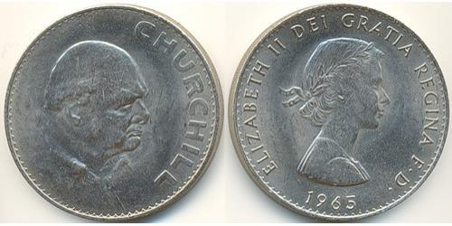 1 Крона Великобритания (1922-) Никель/Медь Елизавета II (1926-)