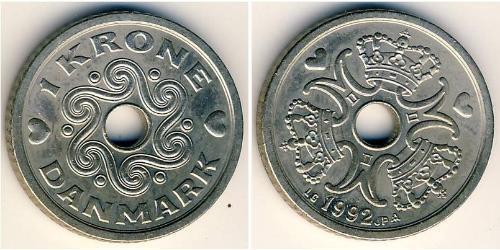1 Крона Дания Никель/Медь