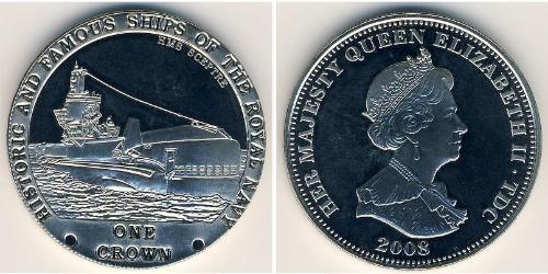 1 Крона Тристан-да-Кунья (острова) Никель/Медь Елизавета II (1926-)