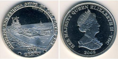 1 Крона Тристан-да-Кунья (острова) Никель/Медь