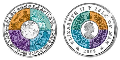 1 Крона Остров Мэн Серебро-Титан
