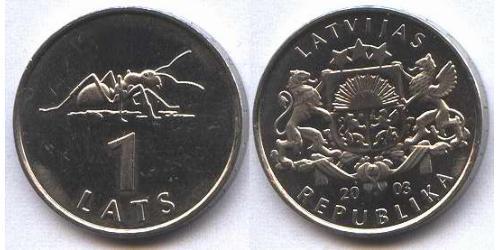 1 Лат Латвия (1991 - ) Никель/Медь