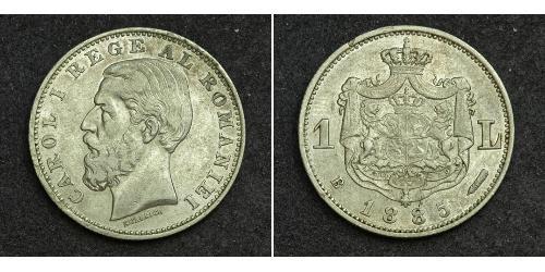 1 Лей Королевство Румыния (1881-1947) Серебро
