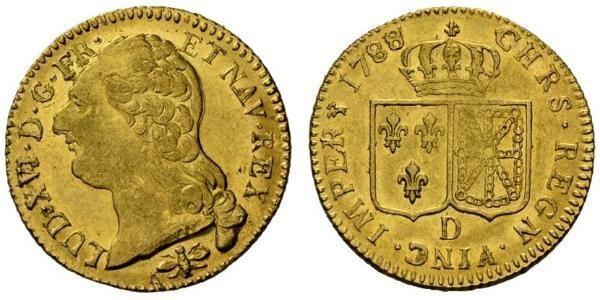 1 Луидор Королевство Франция (843-1791) Золото Людовик XVI (1754 - 1793)
