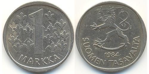 1 Марка Финляндия (1917 - ) Никель/Медь