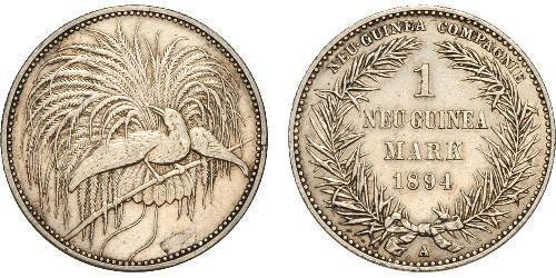 1 Марка Новая Гвинея Серебро