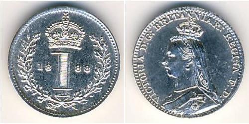1 Пенни Великобритания  Серебро