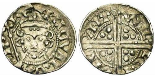 1 Пенни Королевство Англия (927-1649,1660-1707) Серебро Генрих III (1207 - 1272)
