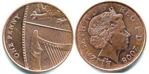 1 Пені Велика Британія (1922-) Залізо/Мідь Єлизавета II (1926-)