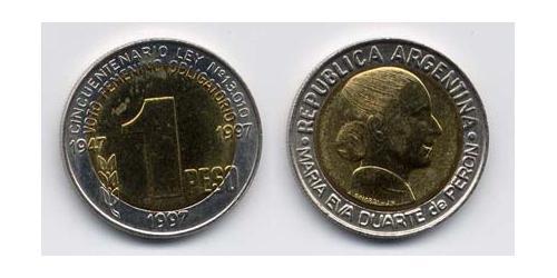 1 Песо Аргентинская Республика (1861 - ) Биметалл