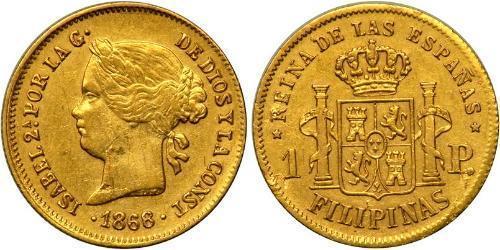 1 Песо Филиппины Золото Isabella II of Spain (1830- 1904)
