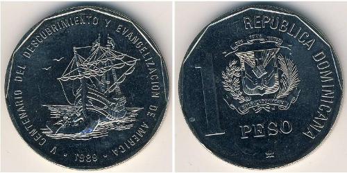 1 Песо Доминиканская Республика Никель/Медь