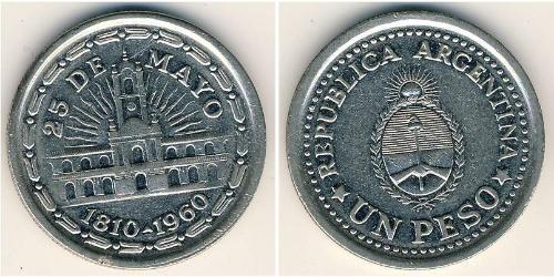 1 Песо Аргентинская Республика (1861 - ) Никель/Сталь
