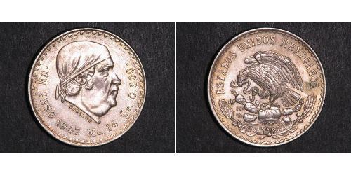 1 Песо Мексика Серебро