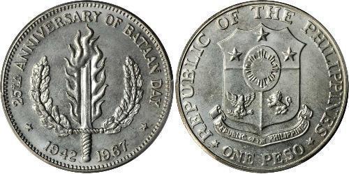 1 Песо Филиппины Серебро