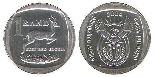 1 Ранд Южно-Африканская Республика Никель/Медь