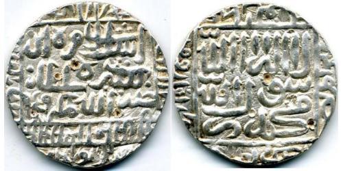 1 Рупия Делийский Султанат (1206-1527) Серебро
