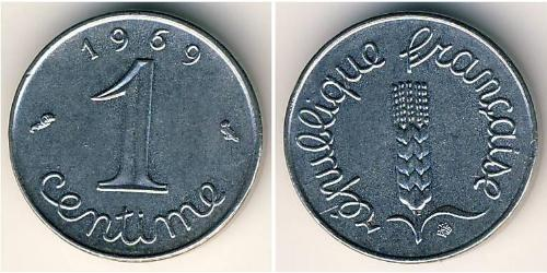 1 Сантим Пятая французская республика (1958 - )
