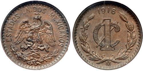 1 Сентаво Мексиканські Сполучені Штати (1867 - ) Бронза