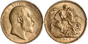 1 Соверен Австралия (1788 - 1939) Золото Эдуард VII (1841-1910)