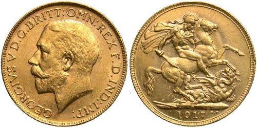 1 Соверен Австралия (1788 - 1939) Золото Георг V (1865-1936)