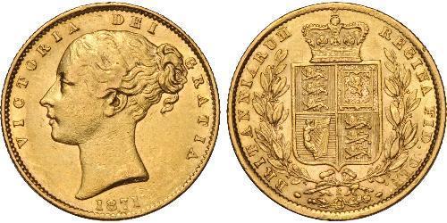 1 Соверен Австралия (1788 - 1939) Золото Виктория (1819 - 1901)