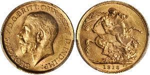 1 Соверен Великобритания (1707 - ) Золото Георг V (1865-1936)