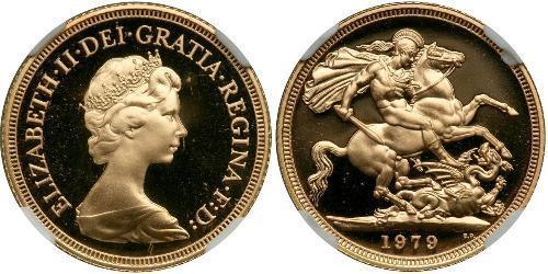 1 Соверен Великобритания (1922-) Золото Виктория (1819 - 1901)