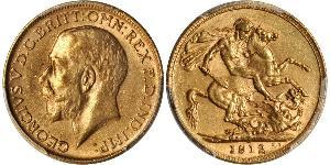 1 Соверен Великобритания  Золото Георг V (1865-1936)