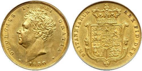 1 Соверен Сполучене королівство Великобританії та Ірландії (1801-1922) Золото Георг IV (1762-1830)