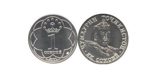 1 Сомони Таджикистан (1991 - ) Никель/Медь