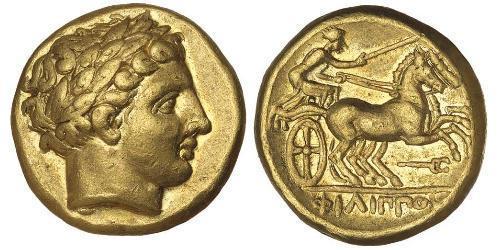 1 Статер Македонское  царство (800BC-146BC) Золото Philip II of Macedon (382 BC - 336 BC)
