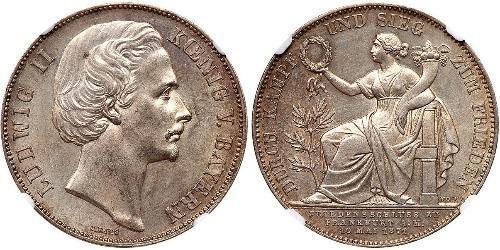 1 Талер Королевство Бавария (1806 - 1918) Серебро Людвиг II (король Баварии)(1845 – 1886)