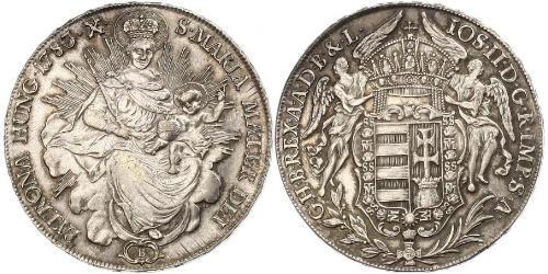 1 Талер Королевство Венгрия (1000-1918) Серебро Joseph II, Holy Roman Emperor  (1741 - 1790)