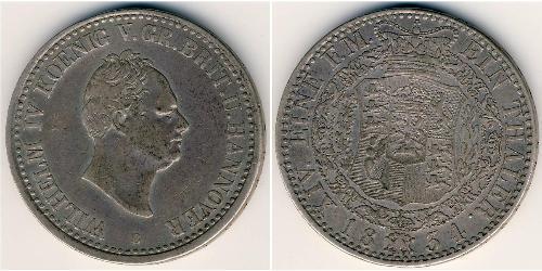 1 Талер Федеральные земли Германии Серебро Вильгельм IV (1765-1837)