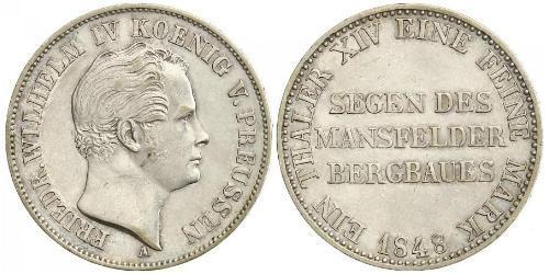 1 Талер Королівство Пруссія (1701-1918) Срібло Фрідріх Вільгельм IV (1795 - 1861)