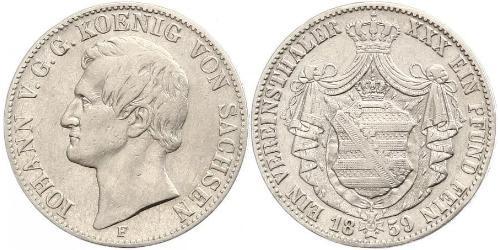 1 Талер Королівство Саксонія (1806 - 1918) Срібло John of Saxony