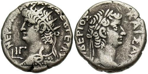 1 Тетрадрахма Римська імперія (27BC-395) Срібло Нерон (37- 68)