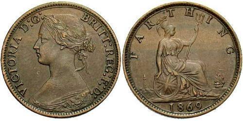 1 Фартинг Соединённое королевство Великобритании и Ирландии (1801-1922) Бронза Виктория (1819 - 1901)