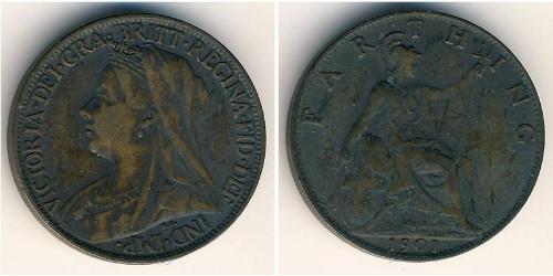 1 Фартинг Великобритания (1707 - ) Медь
