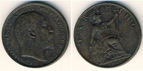 1 Фартінг Велика Британія  Мідь Едвард VII (1841-1910)