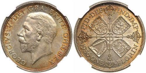 1 Флорин Соединённое королевство Великобритании и Ирландии (1801-1922) Серебро Георг V (1865-1936)