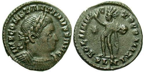 1 Фоллис Римская империя (27BC-395) Бронза Константин I (272 - 337)