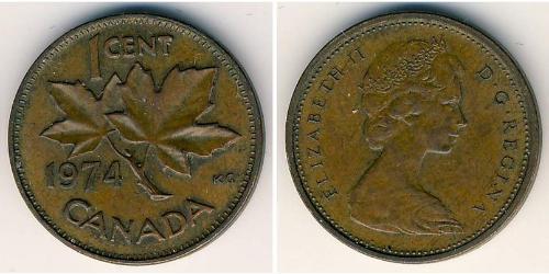 1 Цент Канада Бронза Елизавета II (1926-)