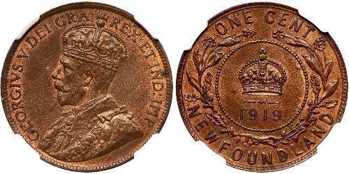 1 Цент Ньюфаундленд і Лабрадор Бронза Георг V (1865-1936)
