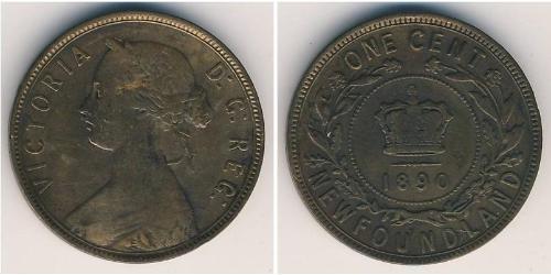 1 Цент Ньюфаундленд і Лабрадор Бронза Вікторія (1819 - 1901)