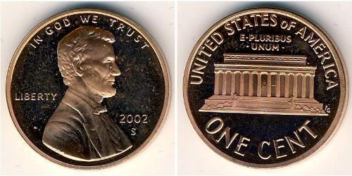 1 Цент США (1776 - ) Бронза Авраам Линкольн (1809-1865)