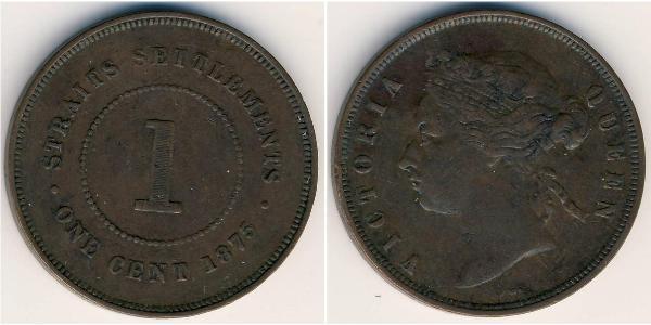 1 Цент Стрейтс-Сетлментс (1826 - 1946) Бронза